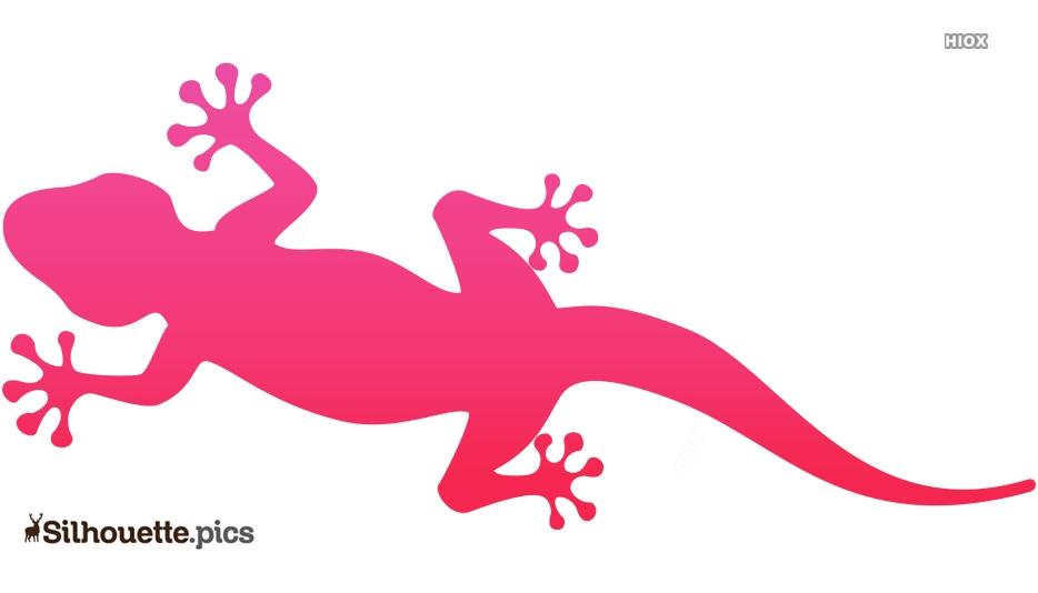 Gecko Lizard Clipart Silhouette