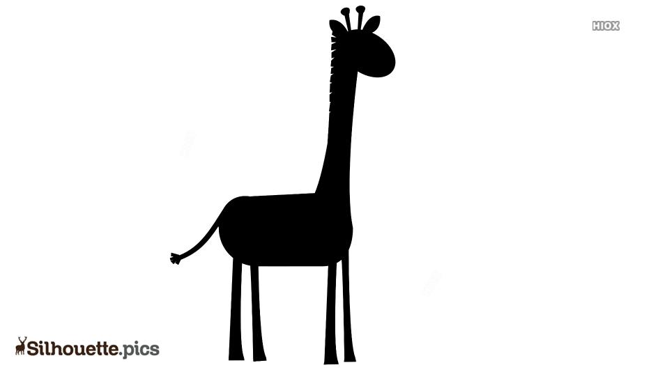 Giraffe Cartoon Silhouette Free Vector Art