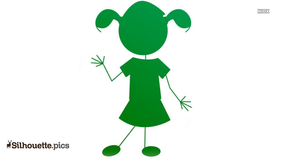 Cute Girl Silhouette Images, Drawings
