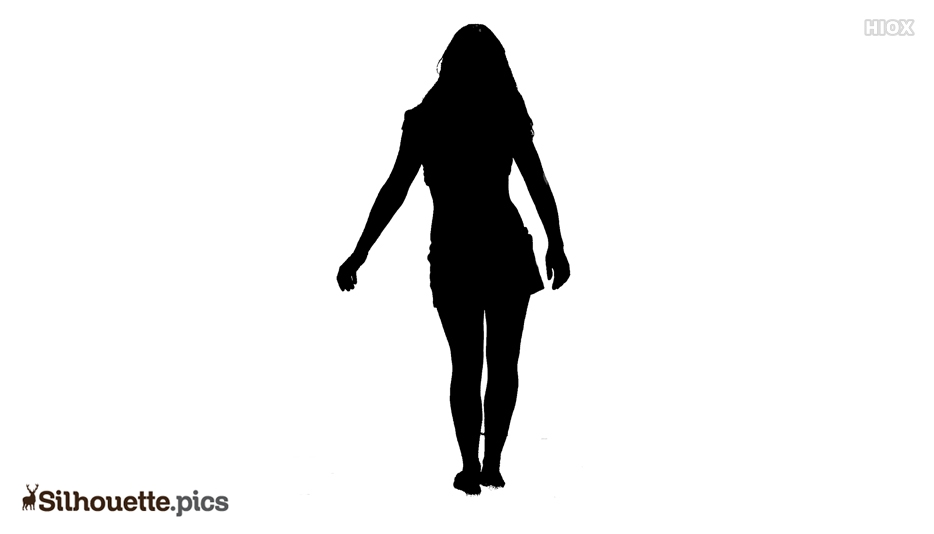 Girl Silhouette From Back