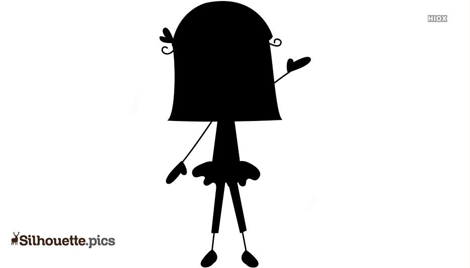 Girl Stick Figure Silhouette Vector
