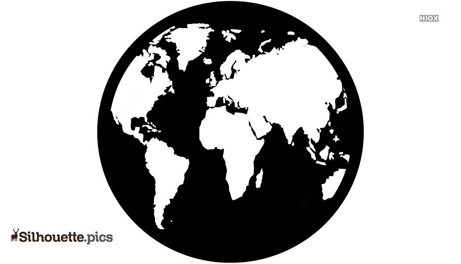 Globe Silhouette Images, Pics