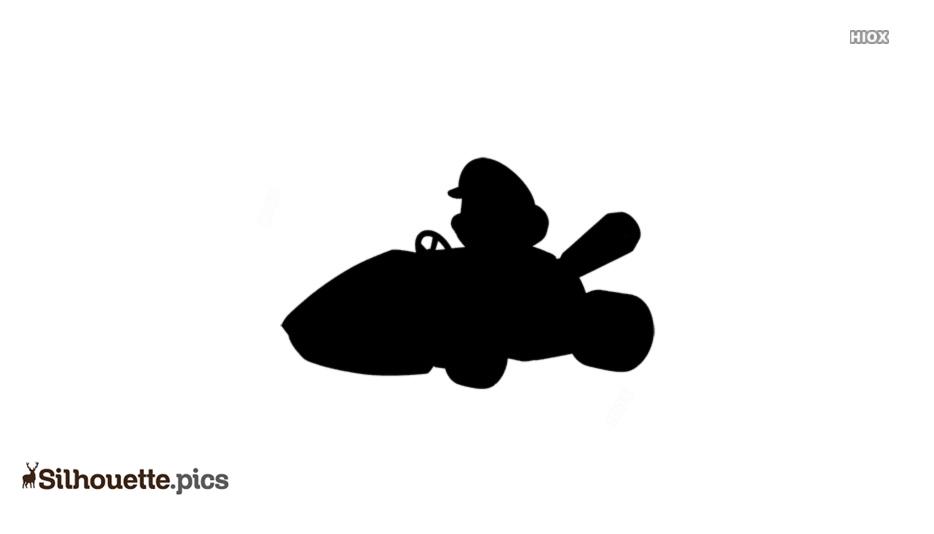 Go Kart Racing Silhouette Illustration