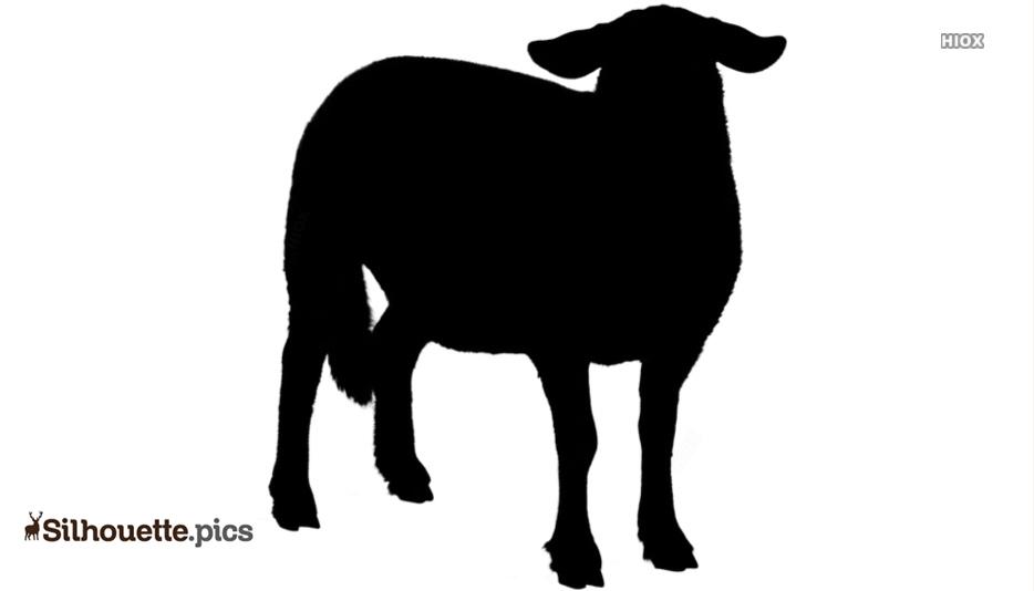 Goat Silhouette Art, Vector