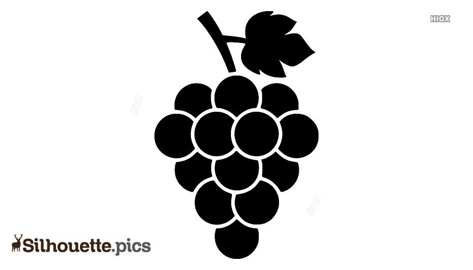 Grapes SVG Silhouette Image