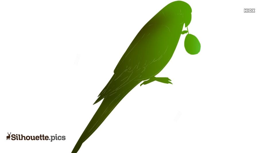 Green Parrot Silhouette Art
