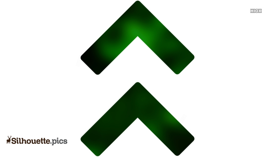 Green Up Double Arrows Set Clip Art, Silhouette