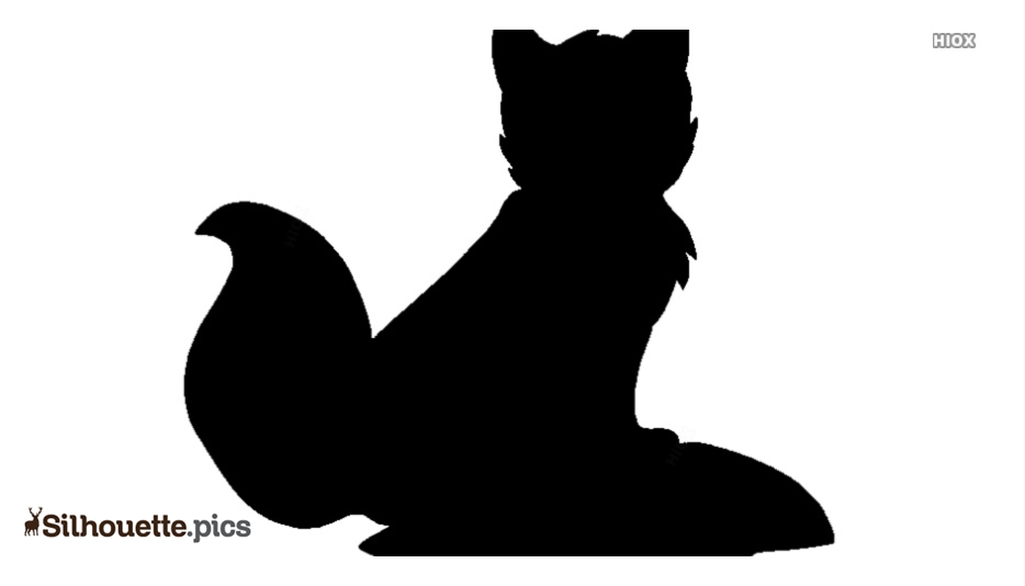 Grey Fox Silhouette Image And Vector