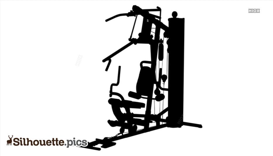 Gym Equipment, Gym Machines Silhouette Image