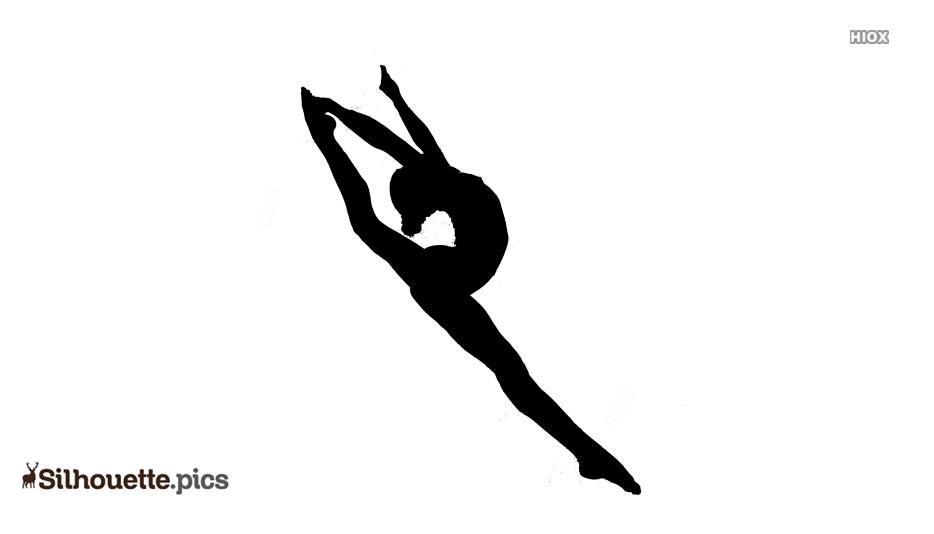 Gymnastics Dancing Silhouette