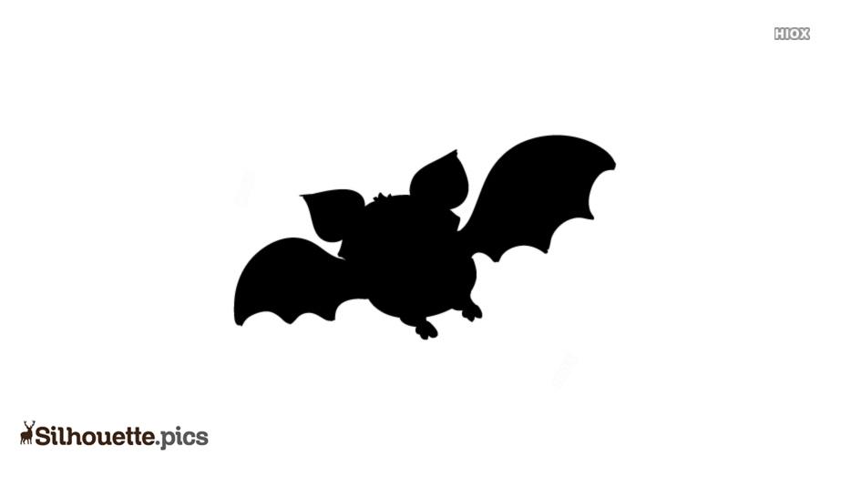 Halloween Bat Silhouette Clip Art, Cartoon Bat Vector Icon