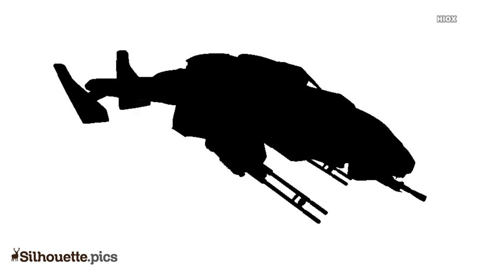 Halo Falcon Silhouette Clipart
