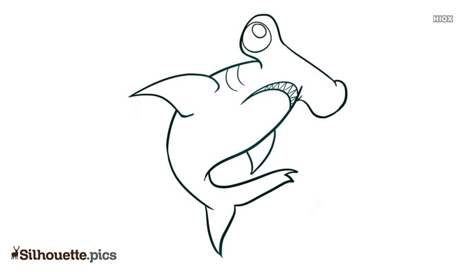 Hammerhead Shark Drawing Silhouette