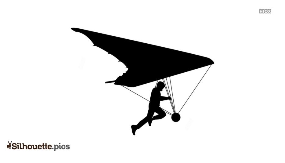Hang Gliding Vector Silhouette