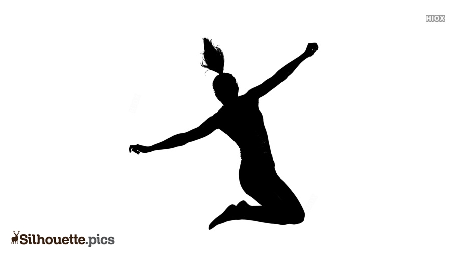 Girl Jumping Silhouette Images