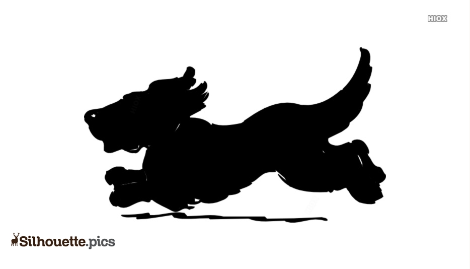 Happy Running Dog Silhouette
