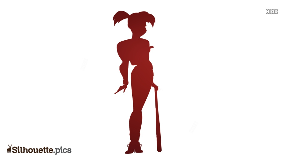 Harley Quinn With Bat Silhouette