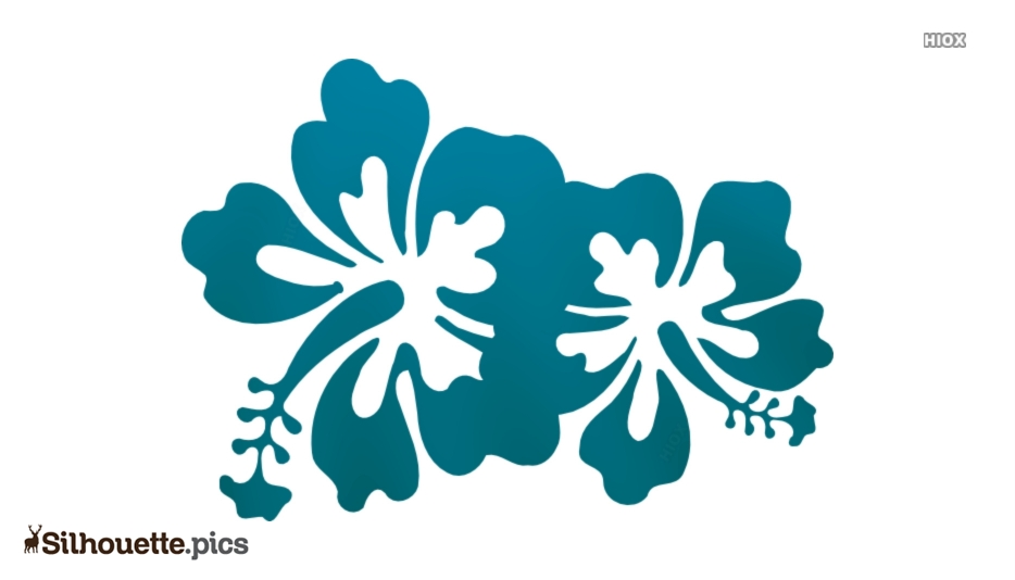 Hibiscus Flower Silhouette Background