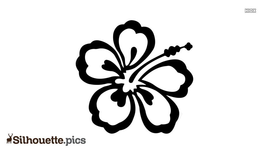 Hibiscus Silhouette Free Vector