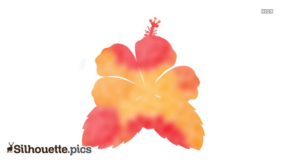 Hibiscus Silhouette Image