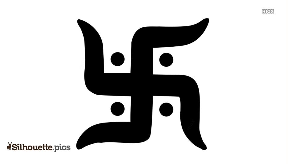 Hinduism Symbol Vector Silhouette