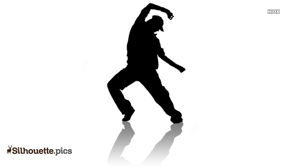 hip hop dancer silhouette image