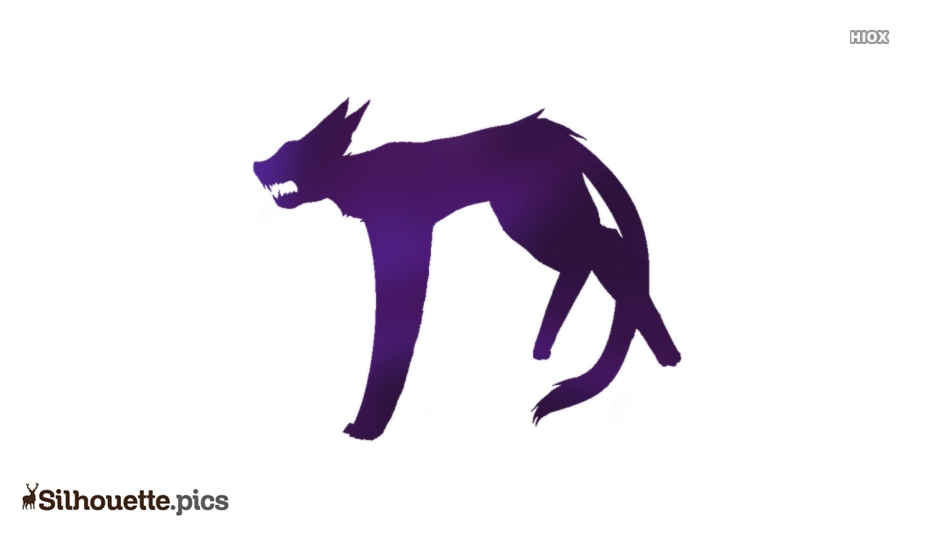 Hissing Cat Silhouette Image And Vector