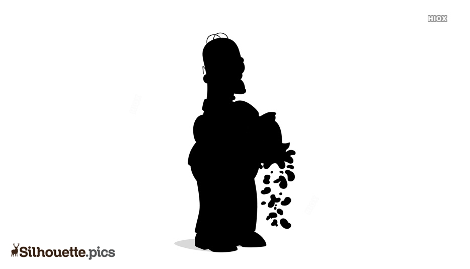 Homer Simpson Silhouette Clipart