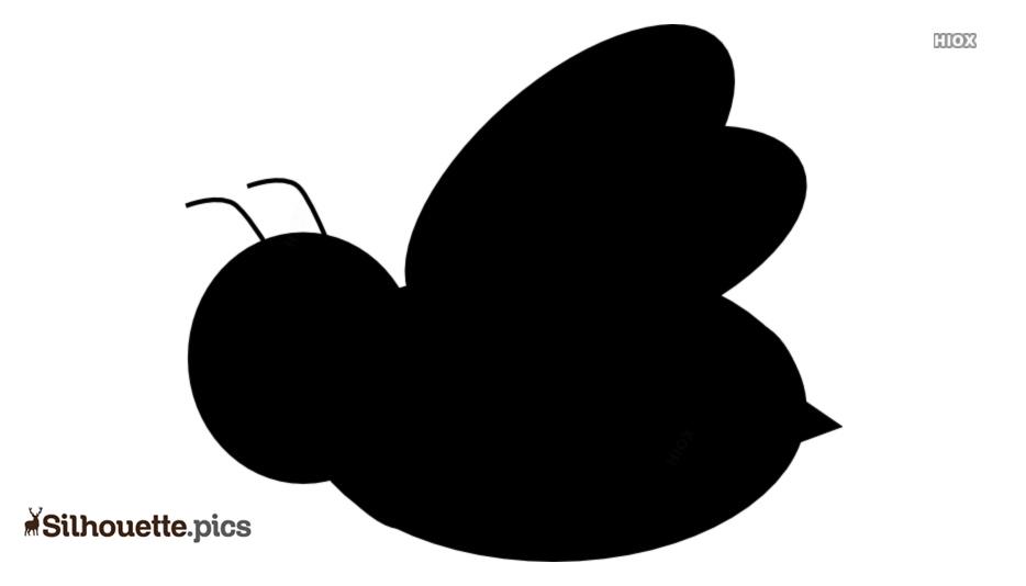 Honey Bee Silhouette Drawing