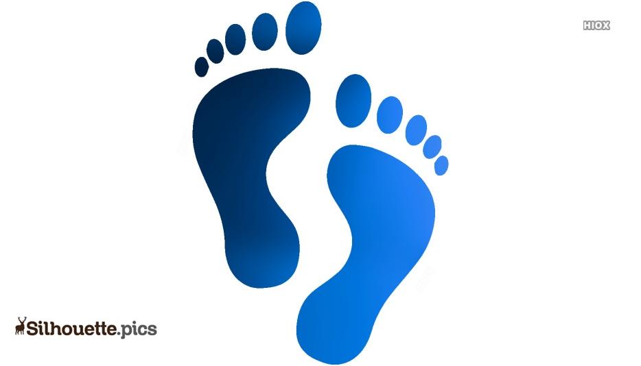 Human Footprint Silhouette Background