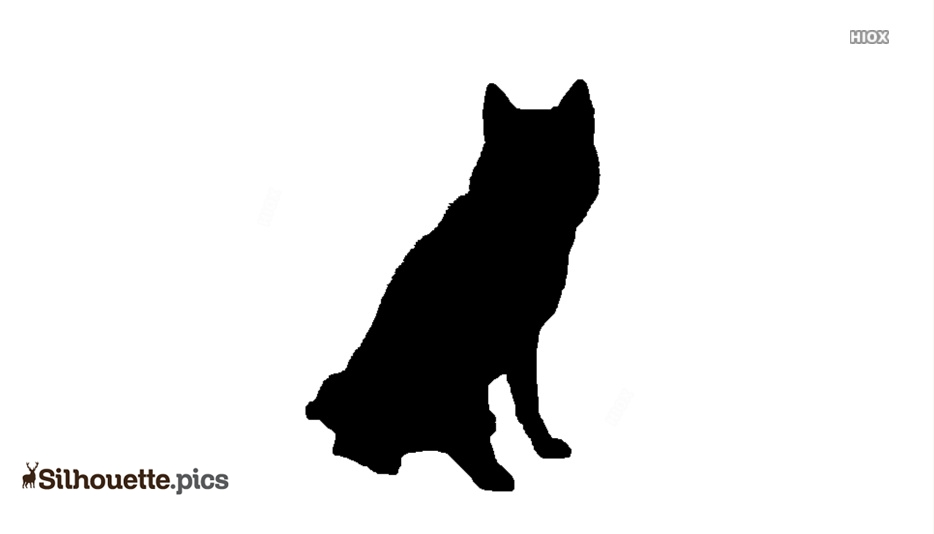 Husky Puppies Silhouette Vector And Graphics