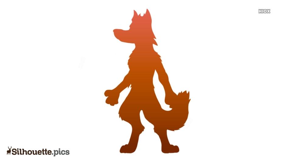 Hyena Cartoon Silhouette Drawing