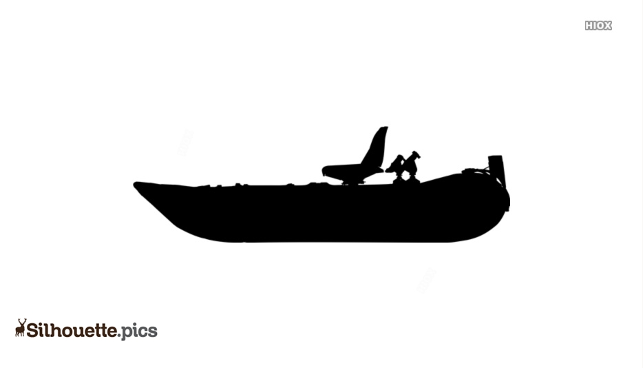 Inflatable Pontoon Boats Silhouette Image And Vector
