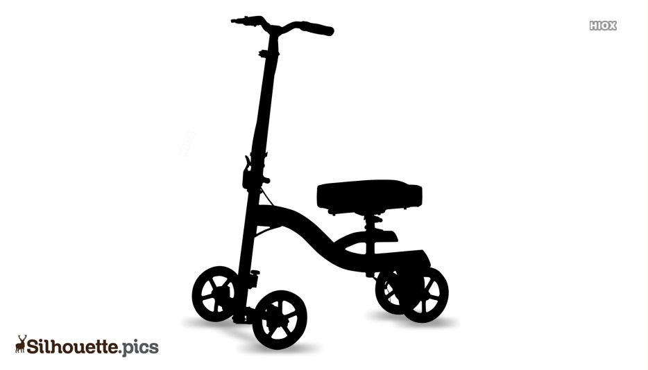 Injury Scooter Silhouette Clip Art