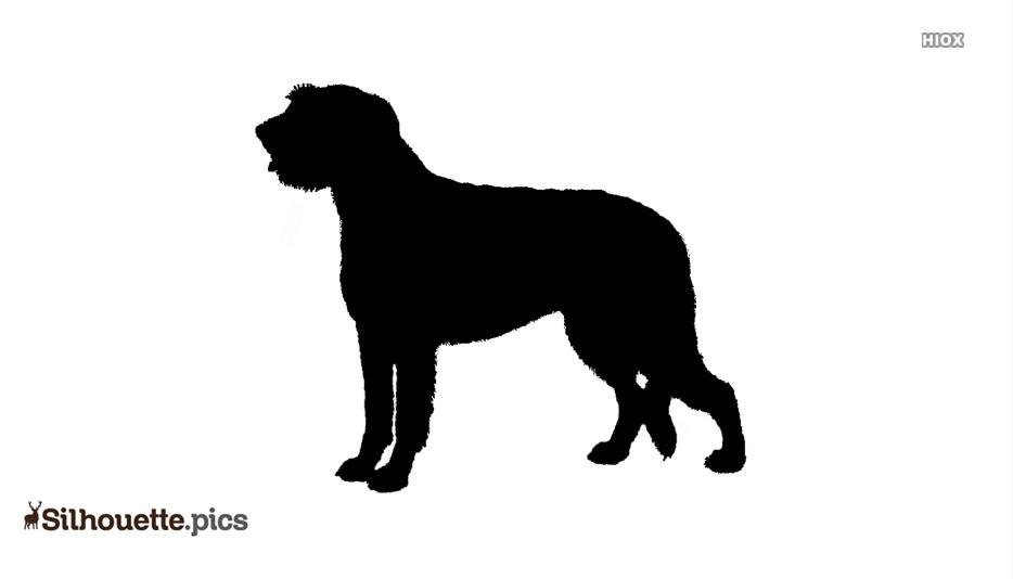 Irish Wolfhound Dog Image Clipart Silhouette