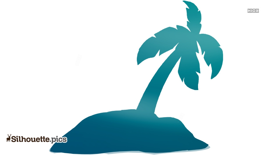 Island Vector Silhouette