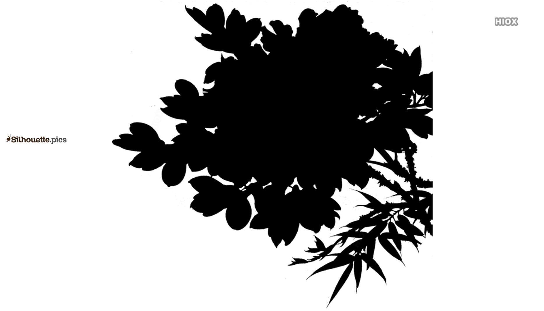 Japanese Flowers Symbol Silhouette