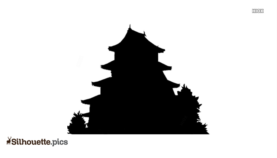 Japanese Pagoda Clip Art Silhouette