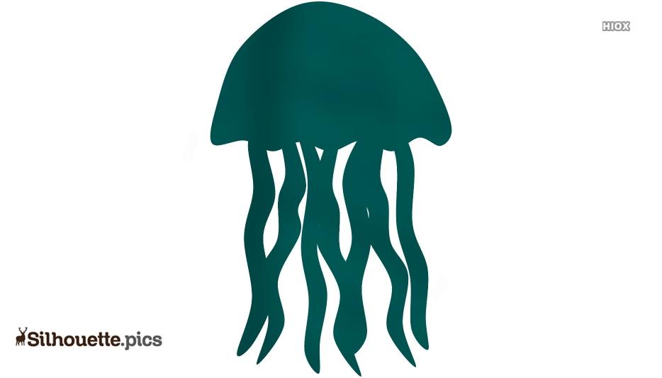 Jellyfish Silhouette Clip Art