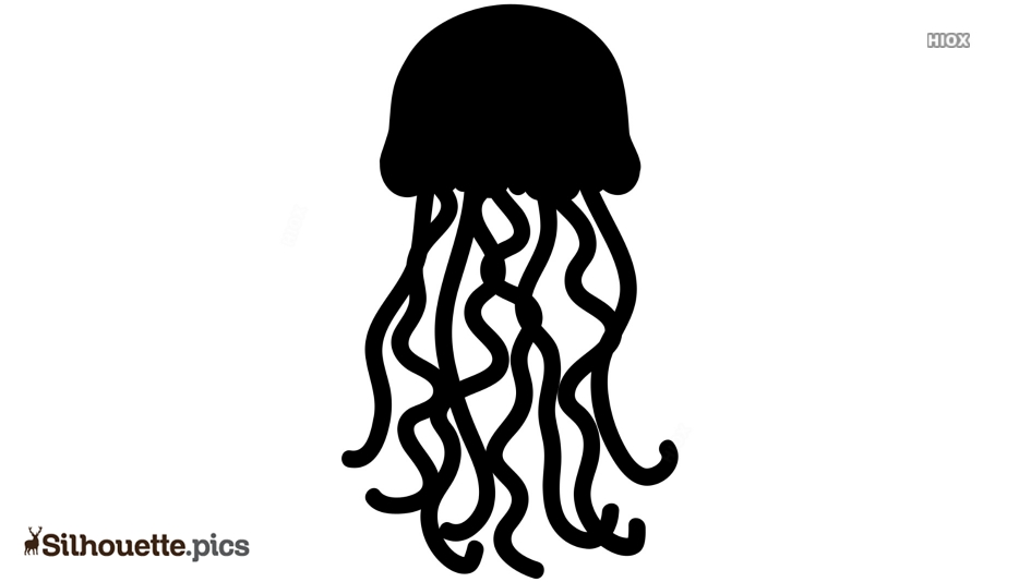 Jellyfish Silhouette Drawing Free Download