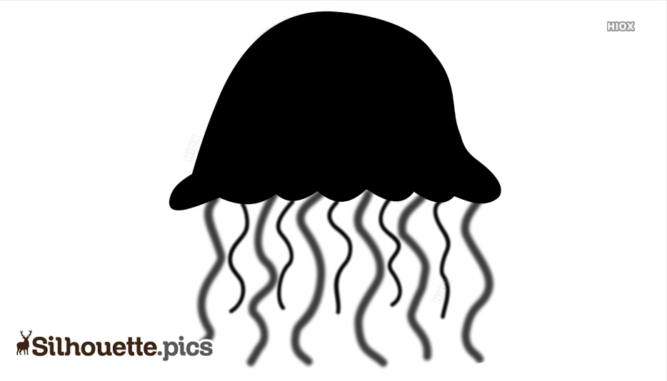 Jellyfish Silhouette Vector