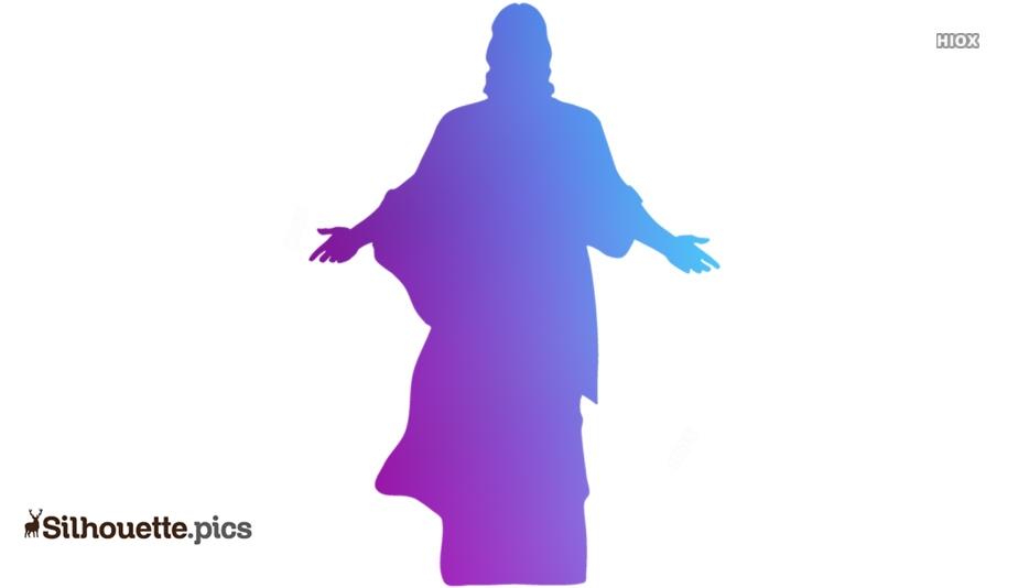 Jesus Christ Silhouette Free Vector Art
