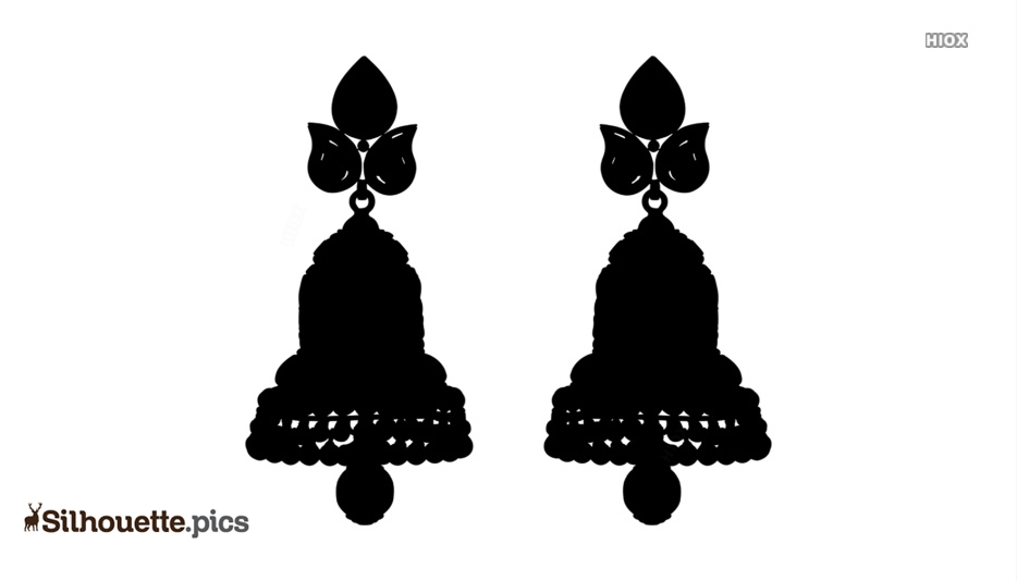 Gold Earrings Silhouette Images