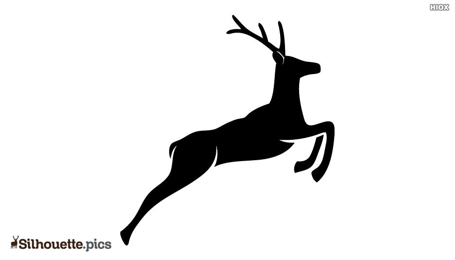 Jumping Reindeer Silhouette Image
