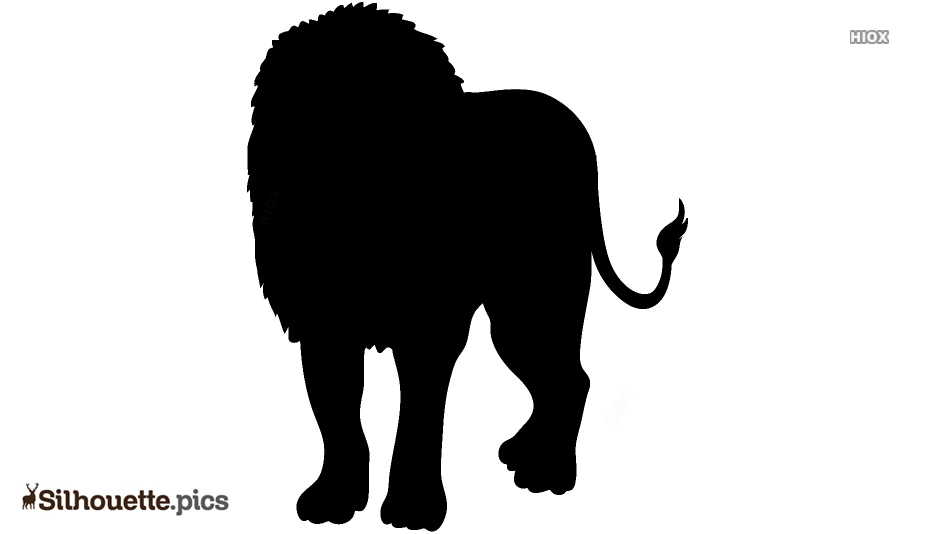Jungle Animal Lion Silhouette Drawing