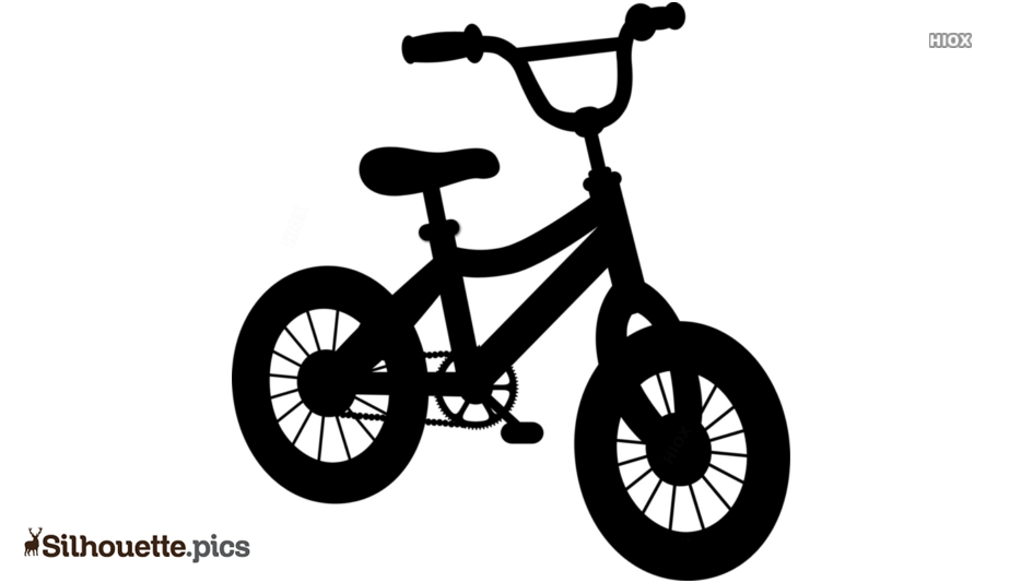 Kid Bicycle Silhouette Black And White