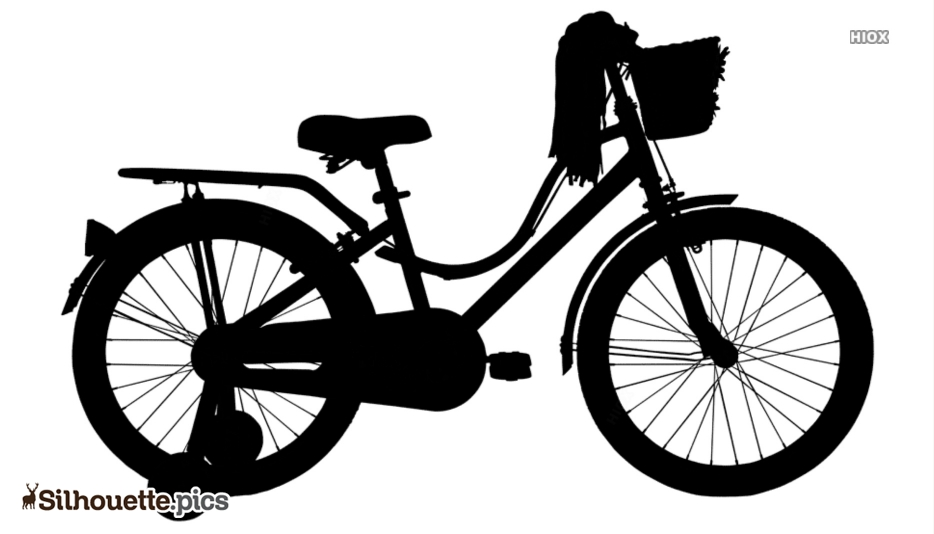 Kids Bicycle Silhouette Art