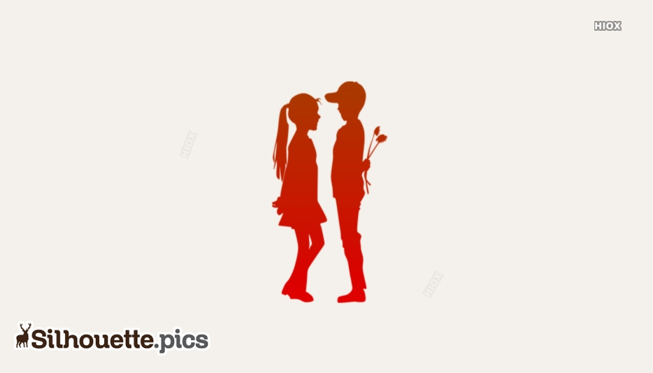 Kids Love Silhouette Vector