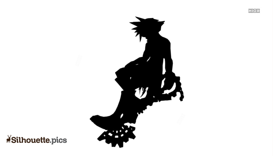 Kingdom Hearts Silhouette Free Vector Art