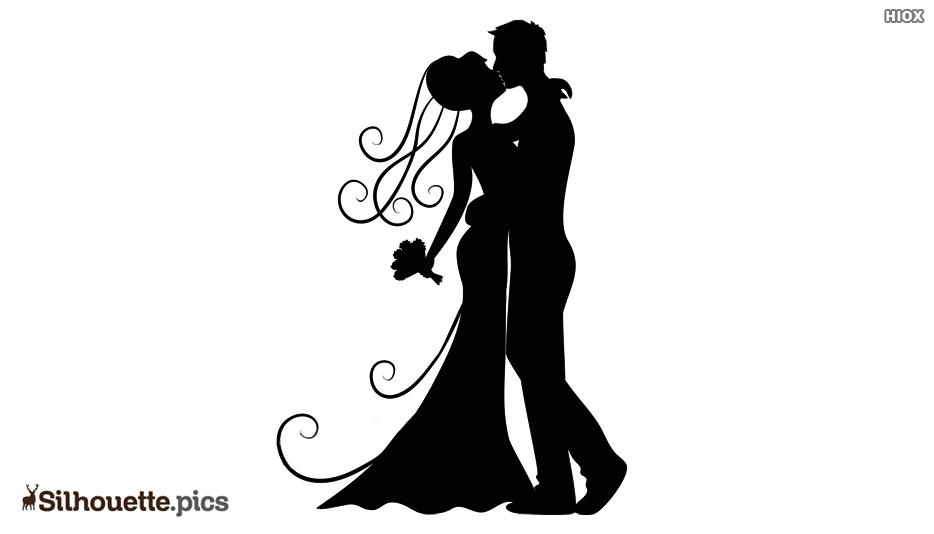 Kissing Bridal Silhouette